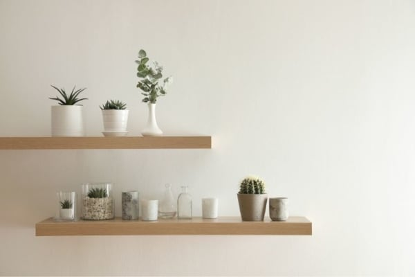 Tips for Determining Spacing for Wall Shelves