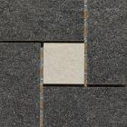 BORDER DIAMOND ROCKS CHARCOAL-SILVER 15X