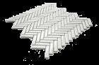 HERRINGBONE BLANCHE 1,2X4,8