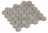 MOSAIC HEXAGON BLEACHED OAK