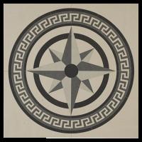 Decor Eivissa Centre Compass 90X90