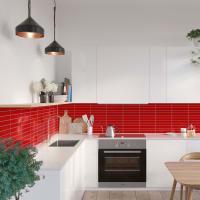 Fibo Kjøkken Red Tile 30X5Cm