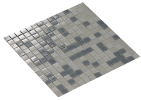 Mosaic Silver Smoke 2X2