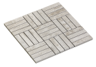 MOSAIC OBLONG WHITE PICKLED WOOD