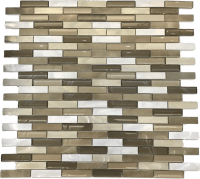 Mosaic Alu Cristal Golden Mix