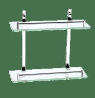 Savon Dobbel Glasshylle 35,5