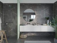 Fibo S Black Marble slett plate-