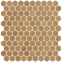 Hexagonal StoneGlass Gold 2,5x2,5