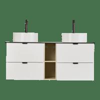 Tind 142 hvit med hylle, hvit topplate