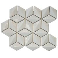 Mosaikkflis Cubic White
