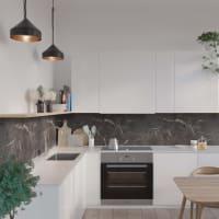 Fibo Kjøkkenplate S Black Marble