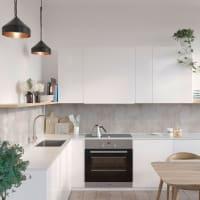 Fibo Kjøkkenplate Lentini Grey Slett