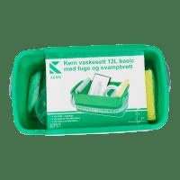 Kern vaskesett 12L Basic med Fugebrett og Svamp
