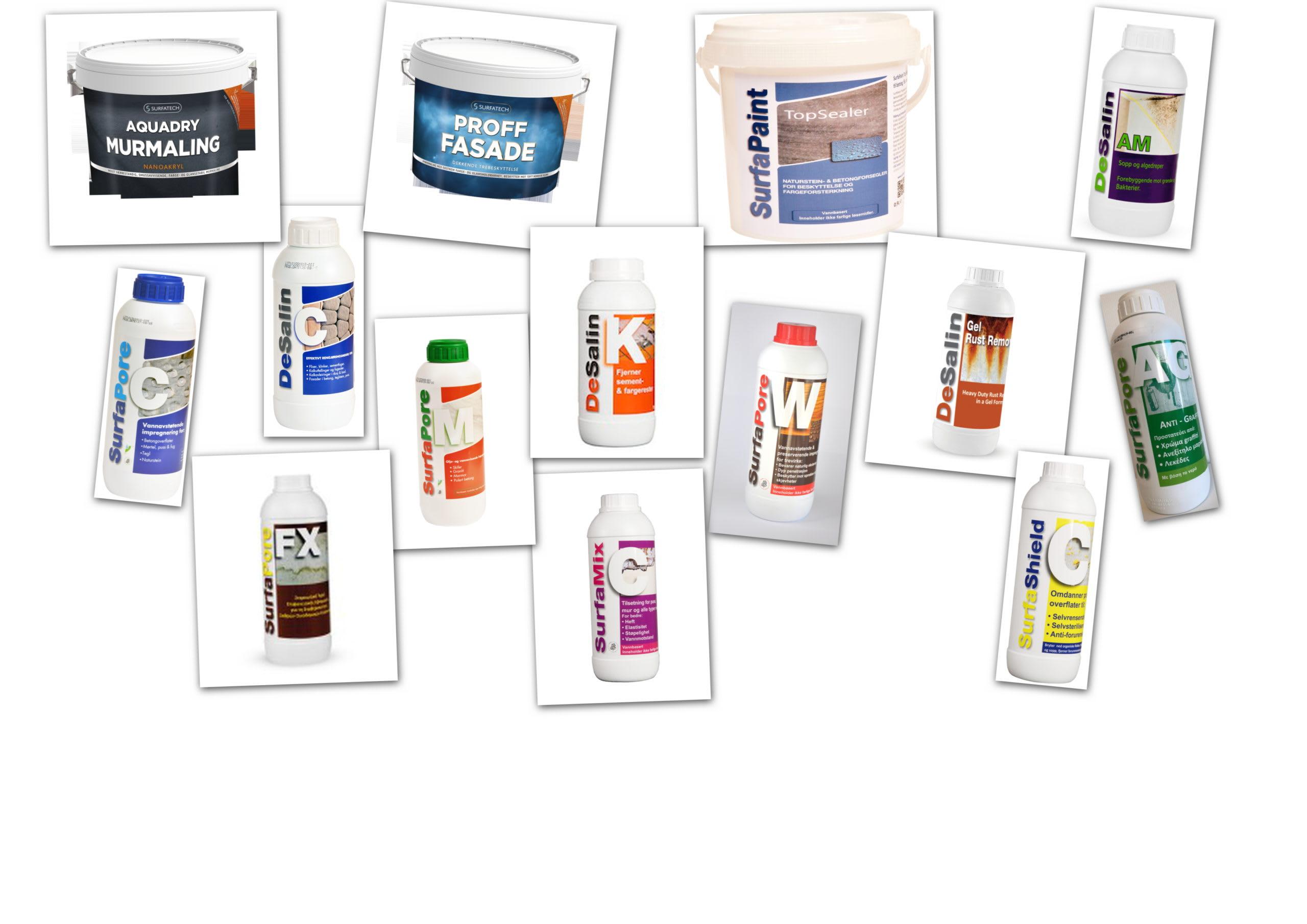 Surfapore produkter til rens av fliser