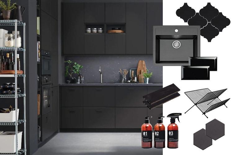 Sorte detaljer på kjøkken er den nye trenden