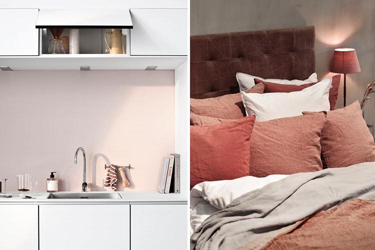 lyse detaljer på kjøkken og soverom