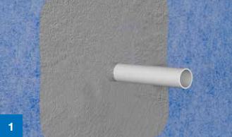 Ved tetting av rørgjennomføringer er det viktig å kontrollere at rørene er godt festet