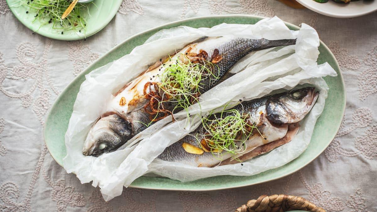 Aurutatud kala ingveriga
