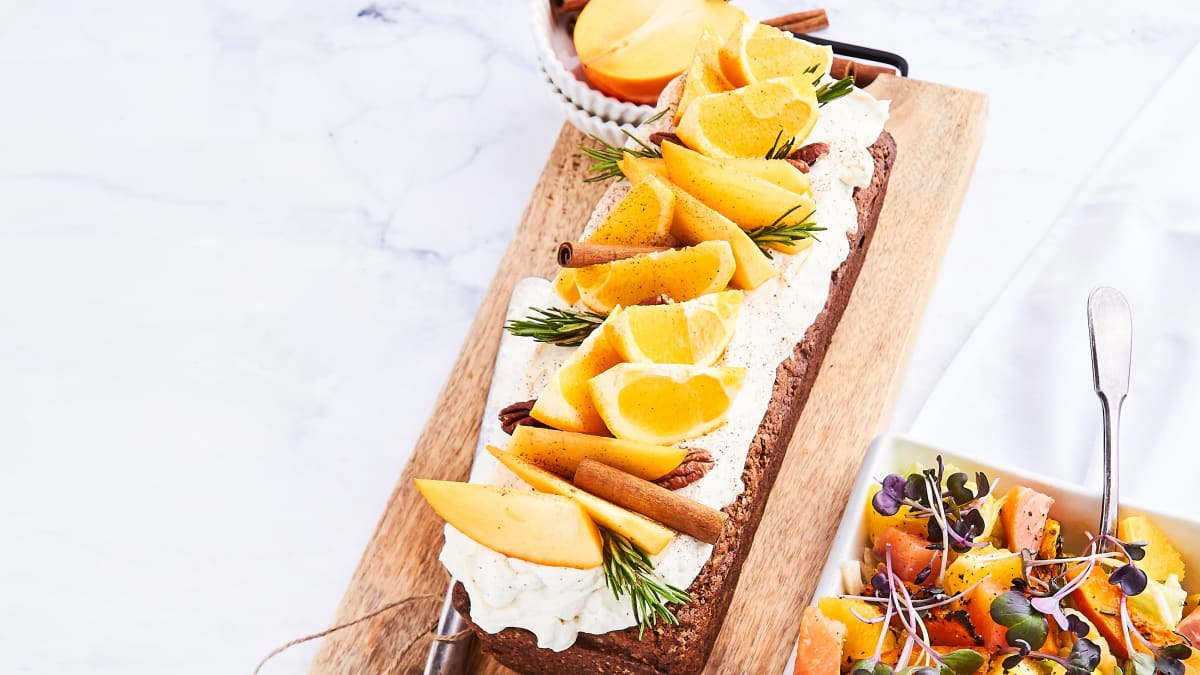 Hurmas un apelsīnu kūka