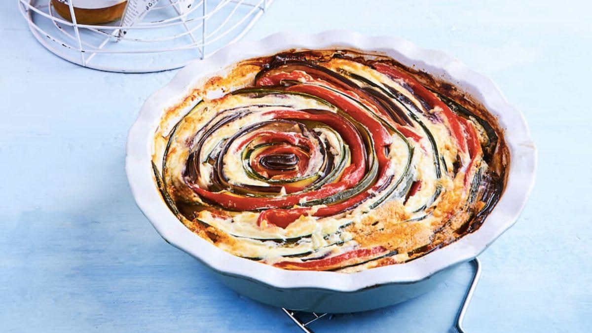 Daržovių pyragas su varške