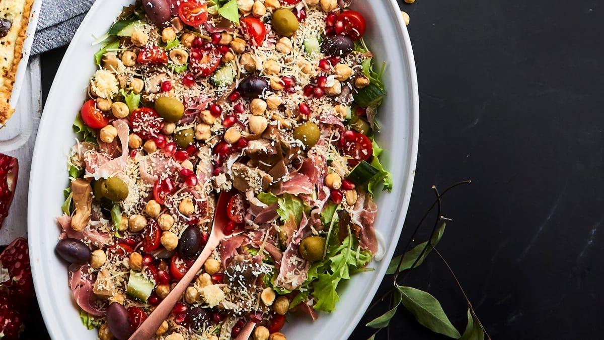 Salāti ar vītinātu gaļu