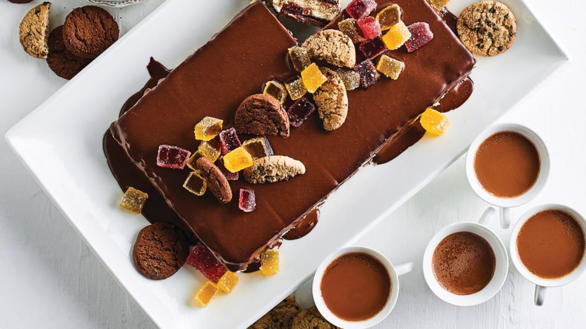 Biezpiena krēma kūka ar Selgas cepumu kārtām