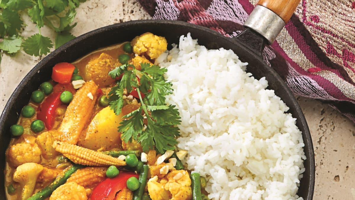 Indiška vegetariška korma