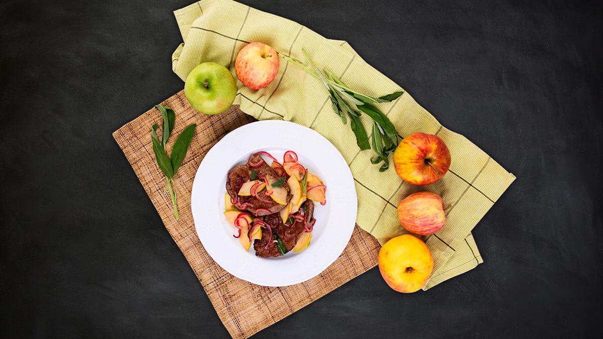 Praetud veisemaks õunte ja salveiga