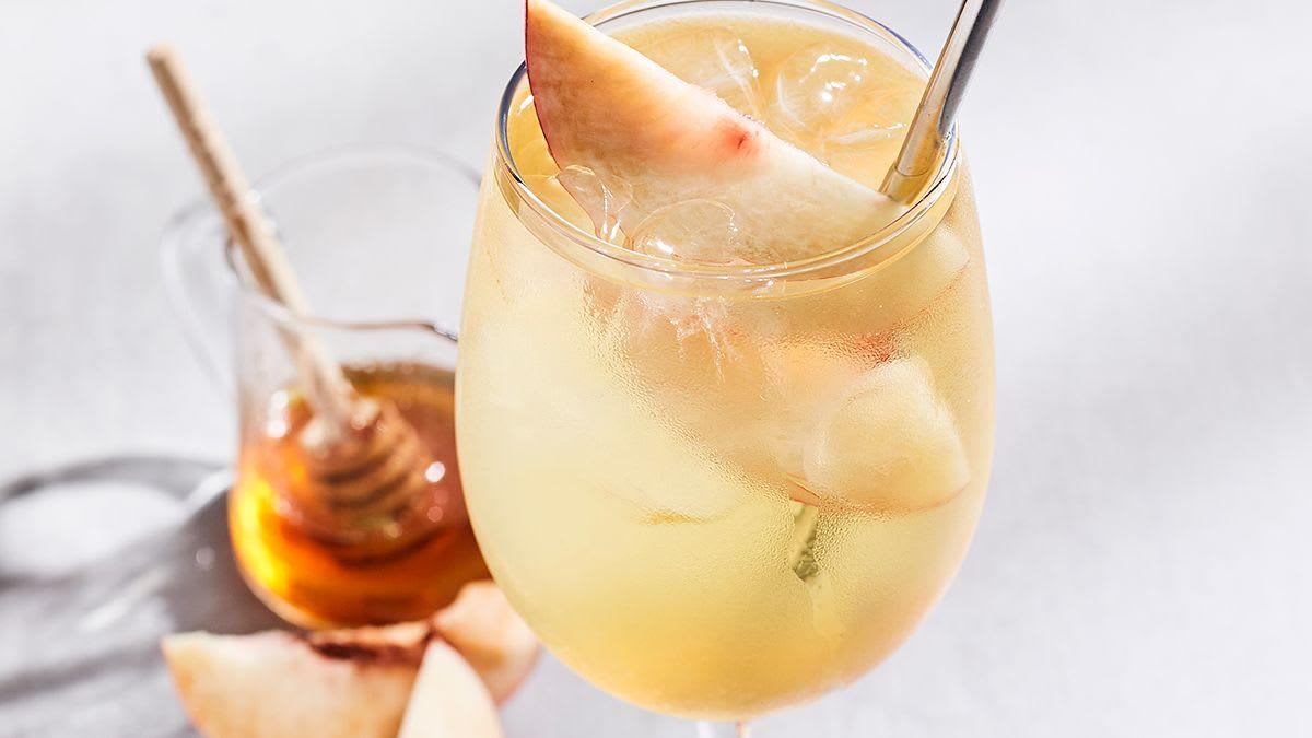 Peach White Wine Cooler