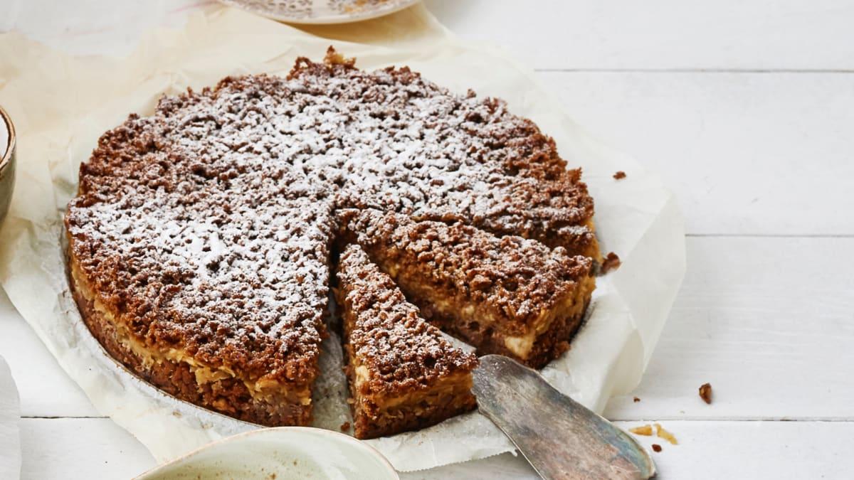 Trupininis obuolių ir kriaušių pyragas