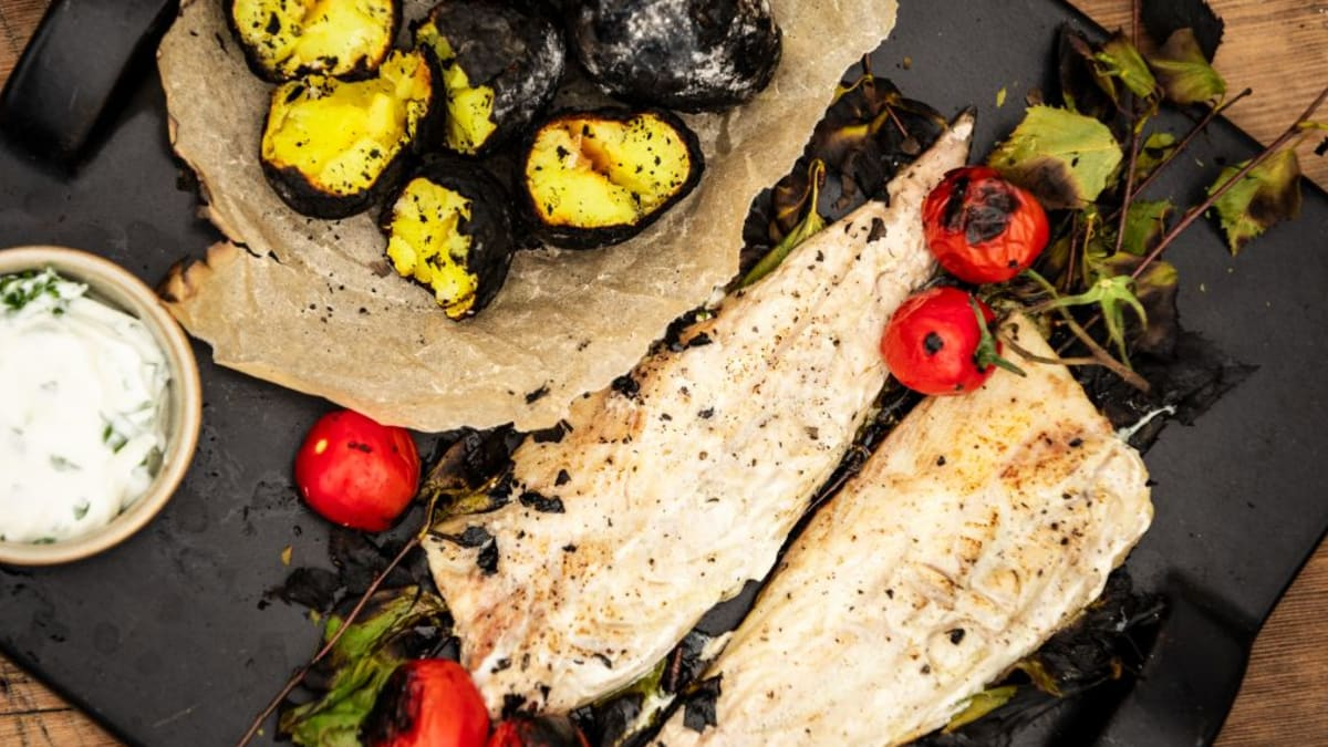 Kaseviha sees grillitud makrell