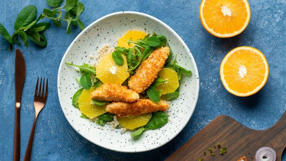 Vištiena su perliniu kuskusu ir apelsinais