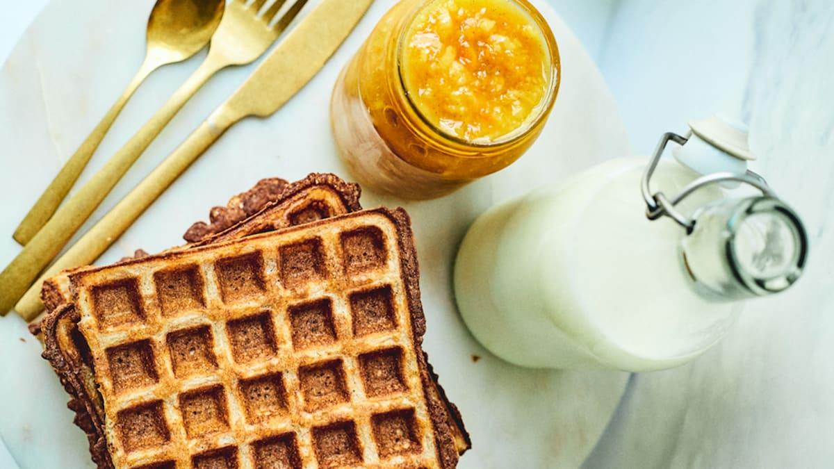 Griķu brokastu vafeles