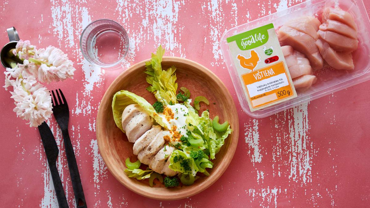 Vištienos ir jogurto salotos