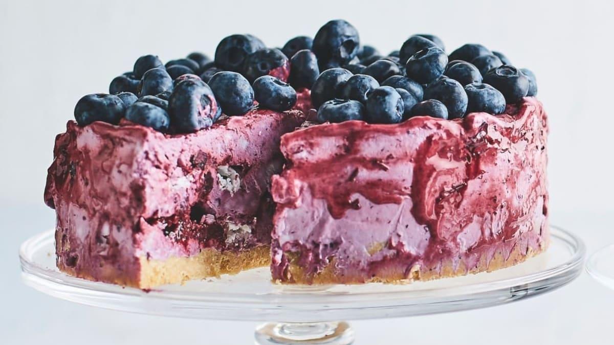 Morenginis mėlynių pyragas