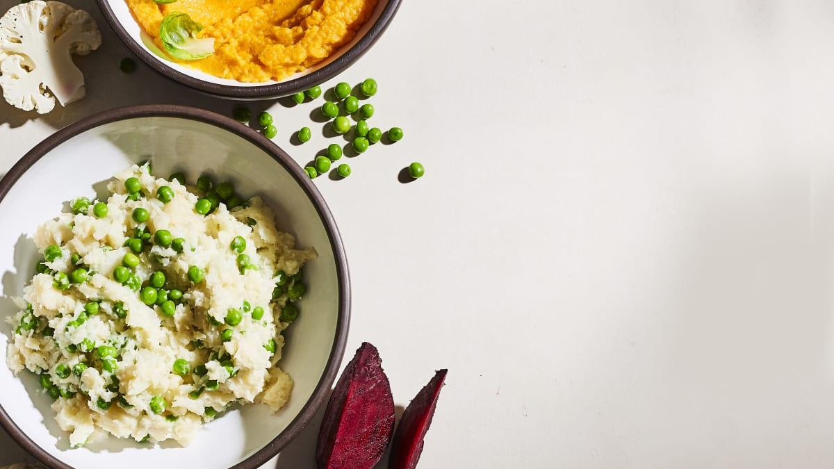 Burkānu un saldo kartupeļu biezenis