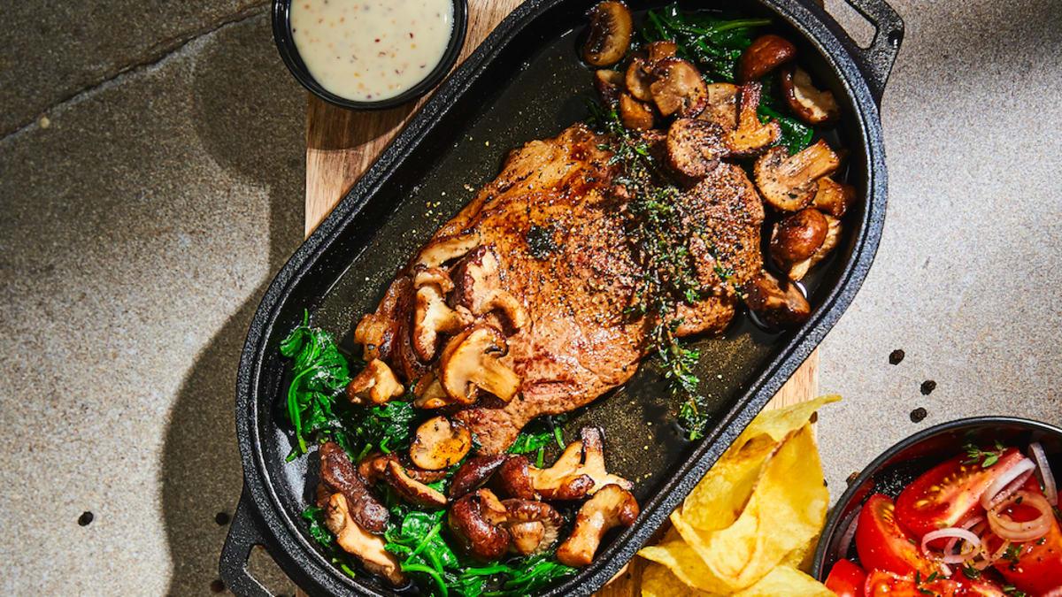 Sviestā sautēts stirploin steiks