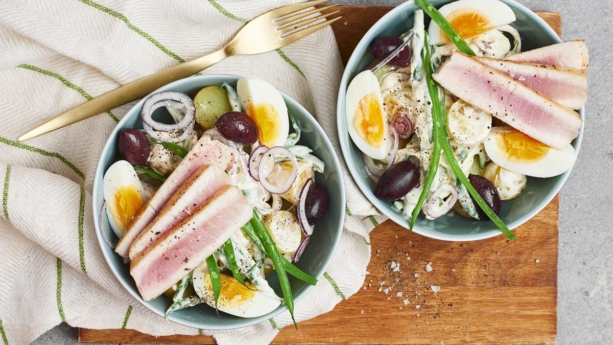 Küpsetatud tuunikala anšoovisekreemiga