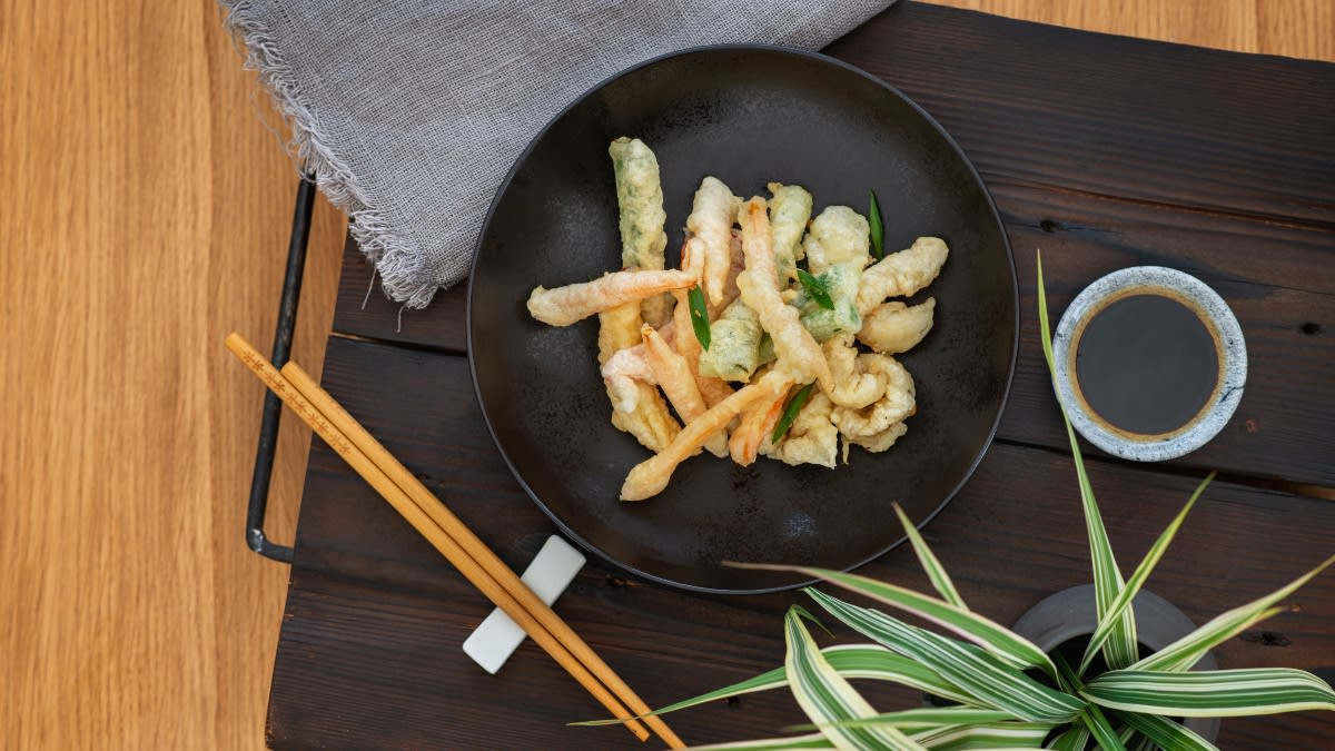 Korėjietiški TWIGIM kalmarai ir daržovės tempuroje