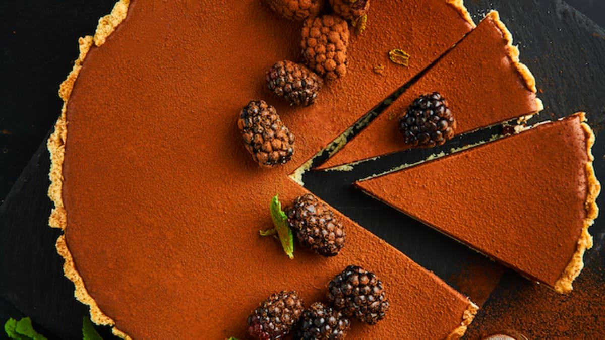 Tarte ar šokolādes krēmu