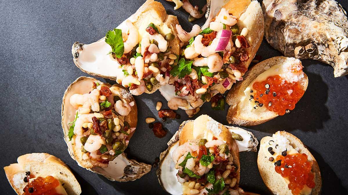 Ziemeļjūras garneles ar kaperu un tomātu salsu