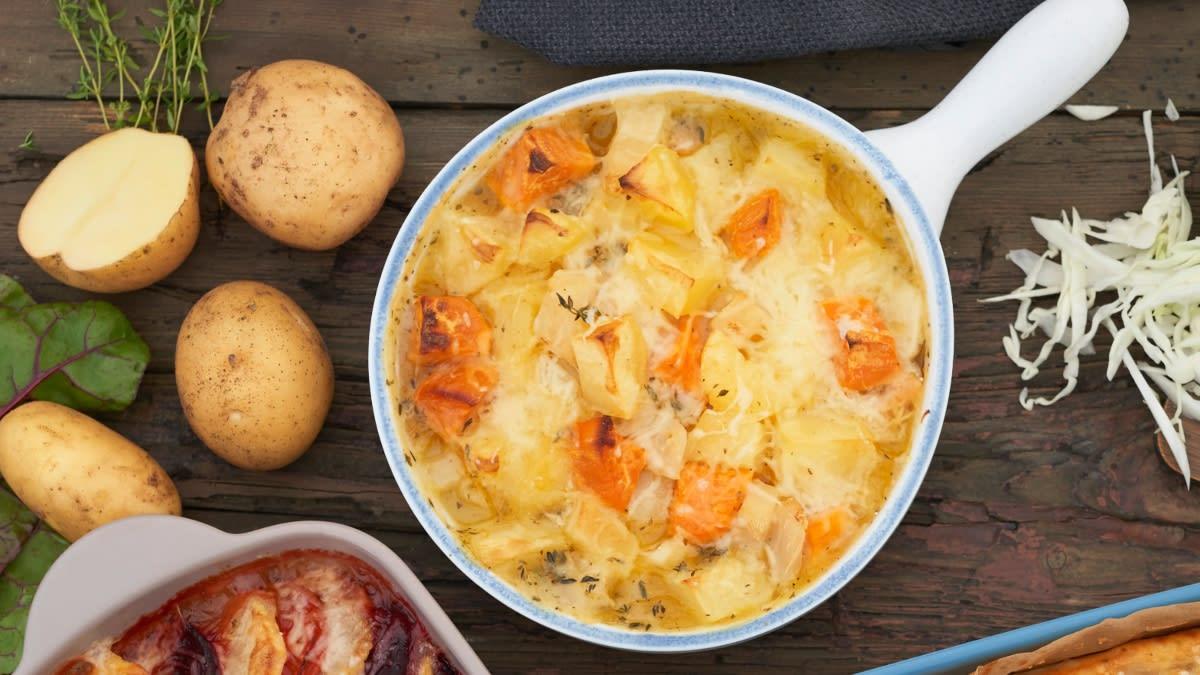 Bulvių ir salierų apkepėlė