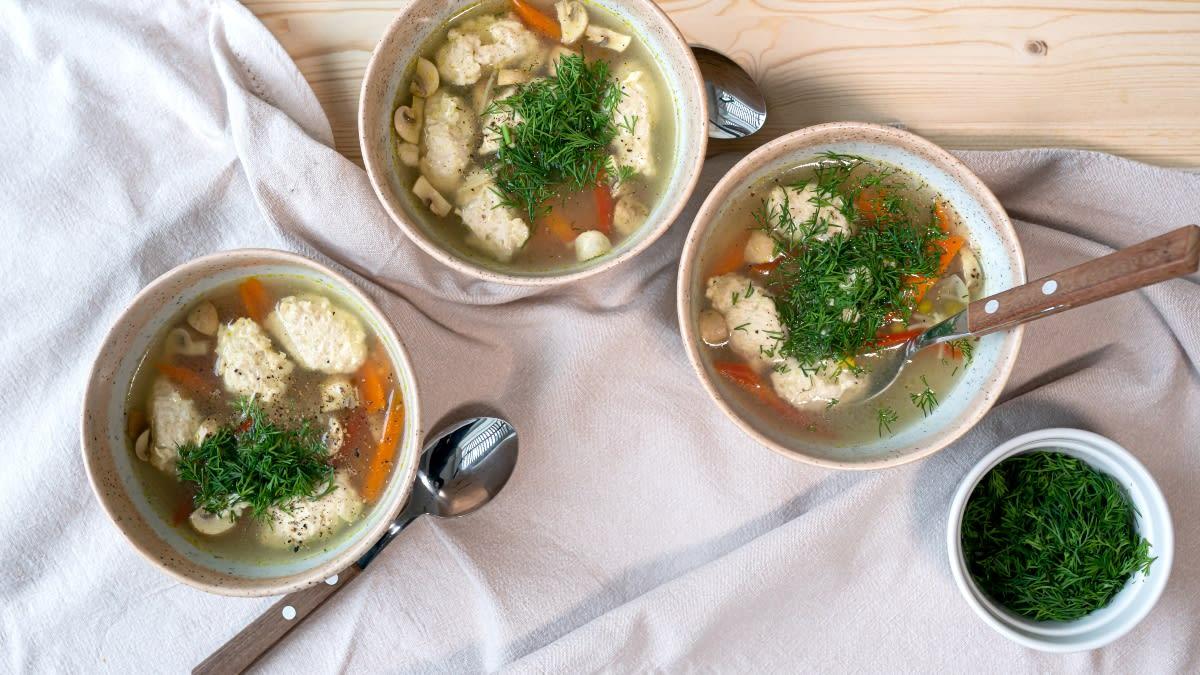 Vištienos kukulių sriuba