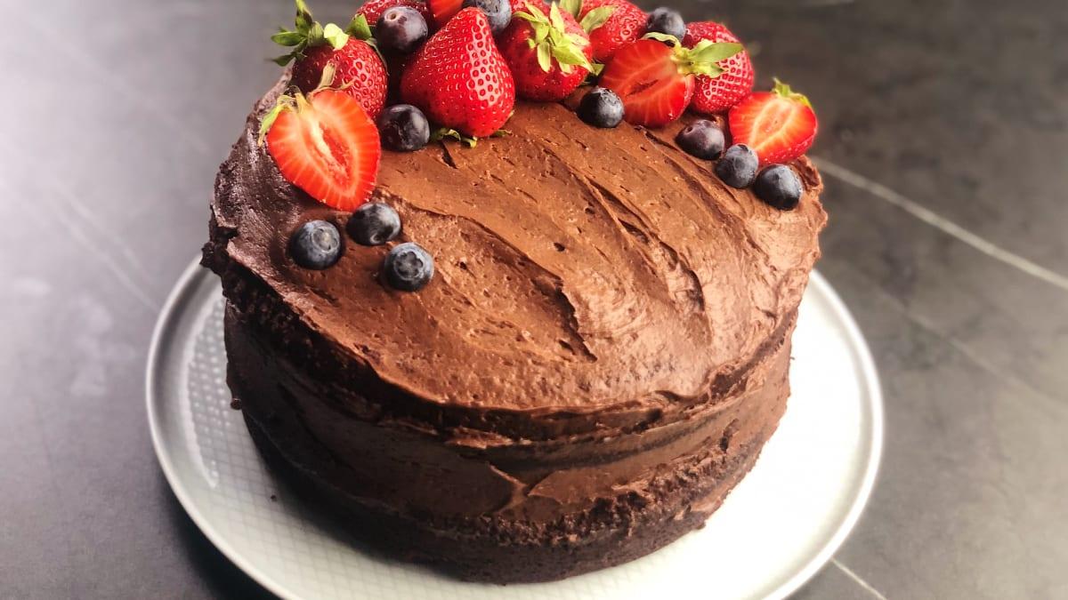 Šokolādes alus kūka