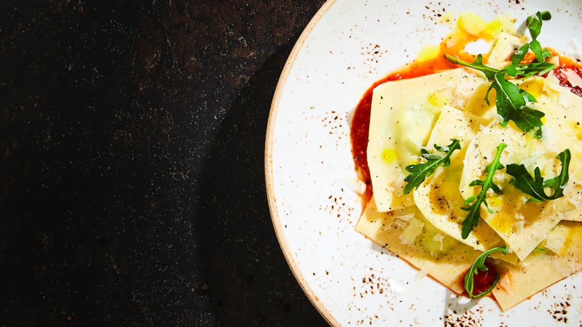 Spinātu un ricotta siera ravioli