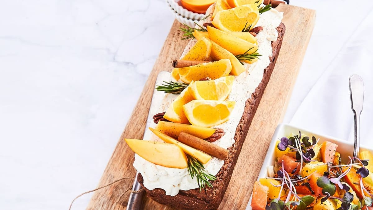 Persimonų ir apelsinų pyragas