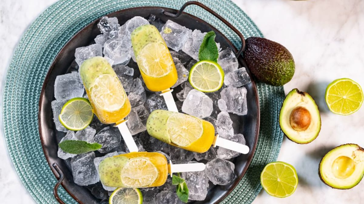 Avokaado-mango pulgajäätised