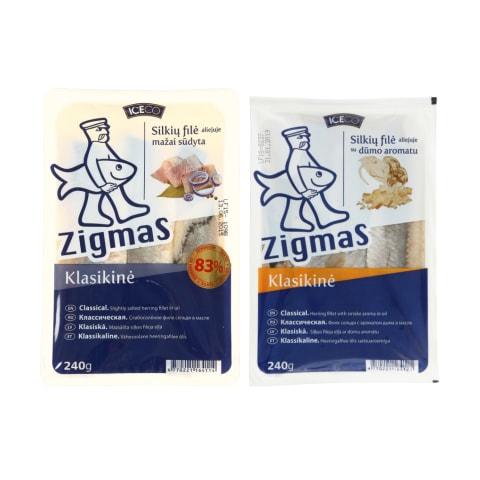 Silkių filė aliejuje ZIGMAS, 240 g (2 rūšys)