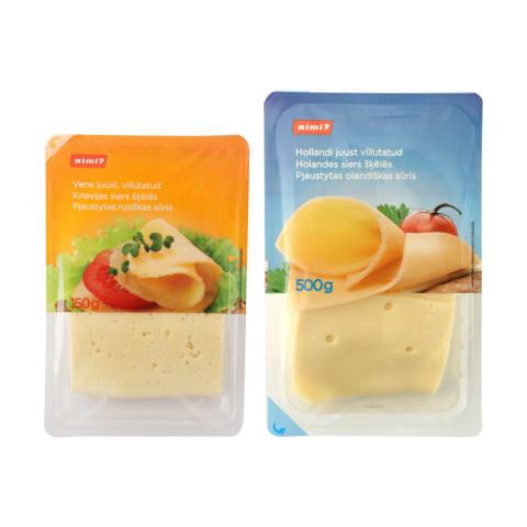 Pjaustytam sūriui RIMI, 45 % rieb., 150–500 g (6 rūšys)