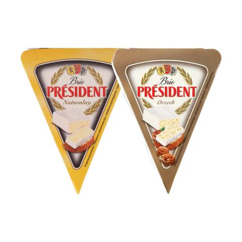 Sūris PRESIDENT BRIE, 32 % rieb., 125 g (2 rūšys)
